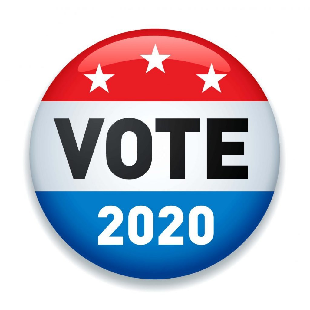 Vote 2020 button