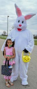 Payton Thomas with bunny